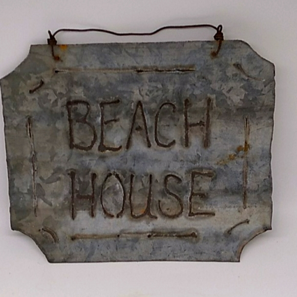 Handmade Beach House sign wall hanging